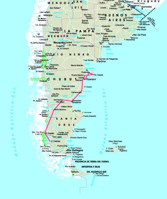 Wwwtangolcom FotosMapas - Argentina map puerto madryn