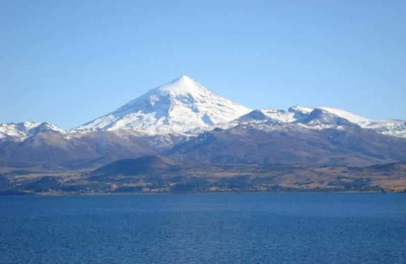 LAKE HUECHULAFQUEN AND VOLCAN LANIN