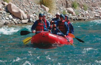 Rafting Along The Wine Route Of Mendoza
