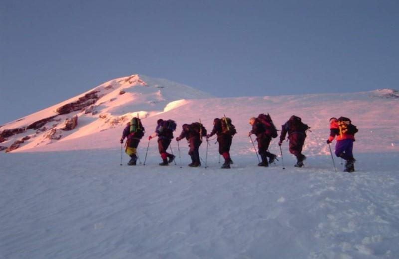 Trekking Ascent Lanin Volcano Shelter