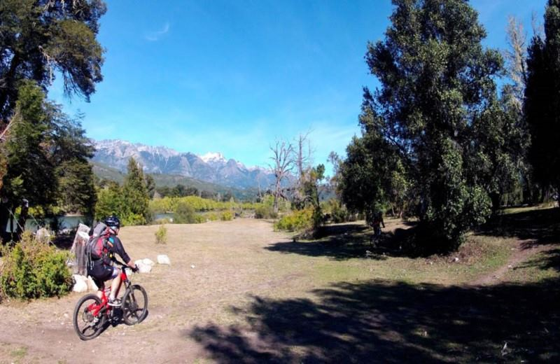 Mountain Bike Privado Para As Passarelas Do Rio Manso