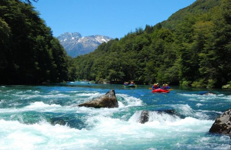 Rafting Manso River To The Border