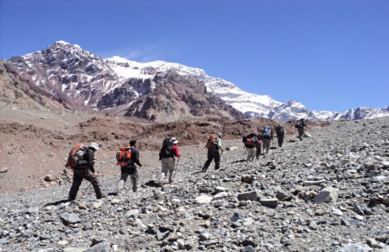 Trekking In The Provincial Park Aconcagua
