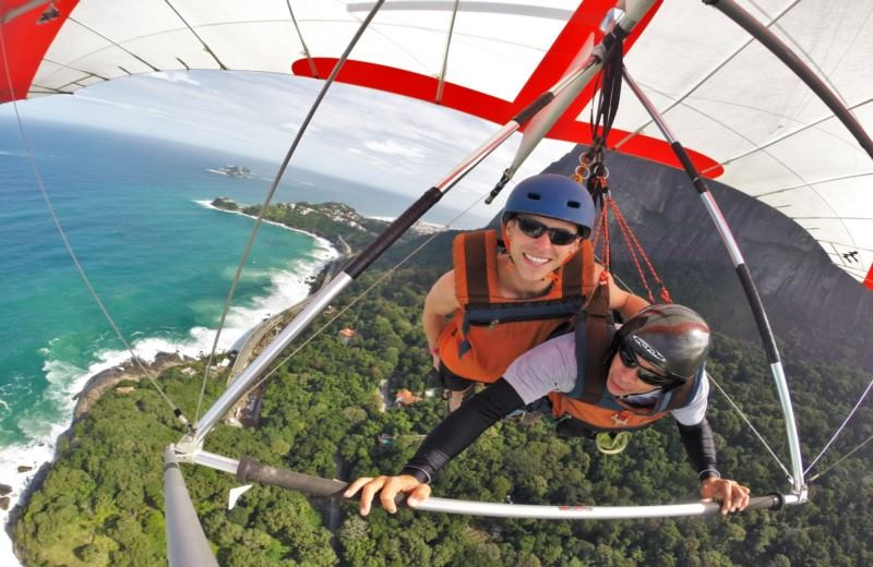 Hang Gliding Over Rio