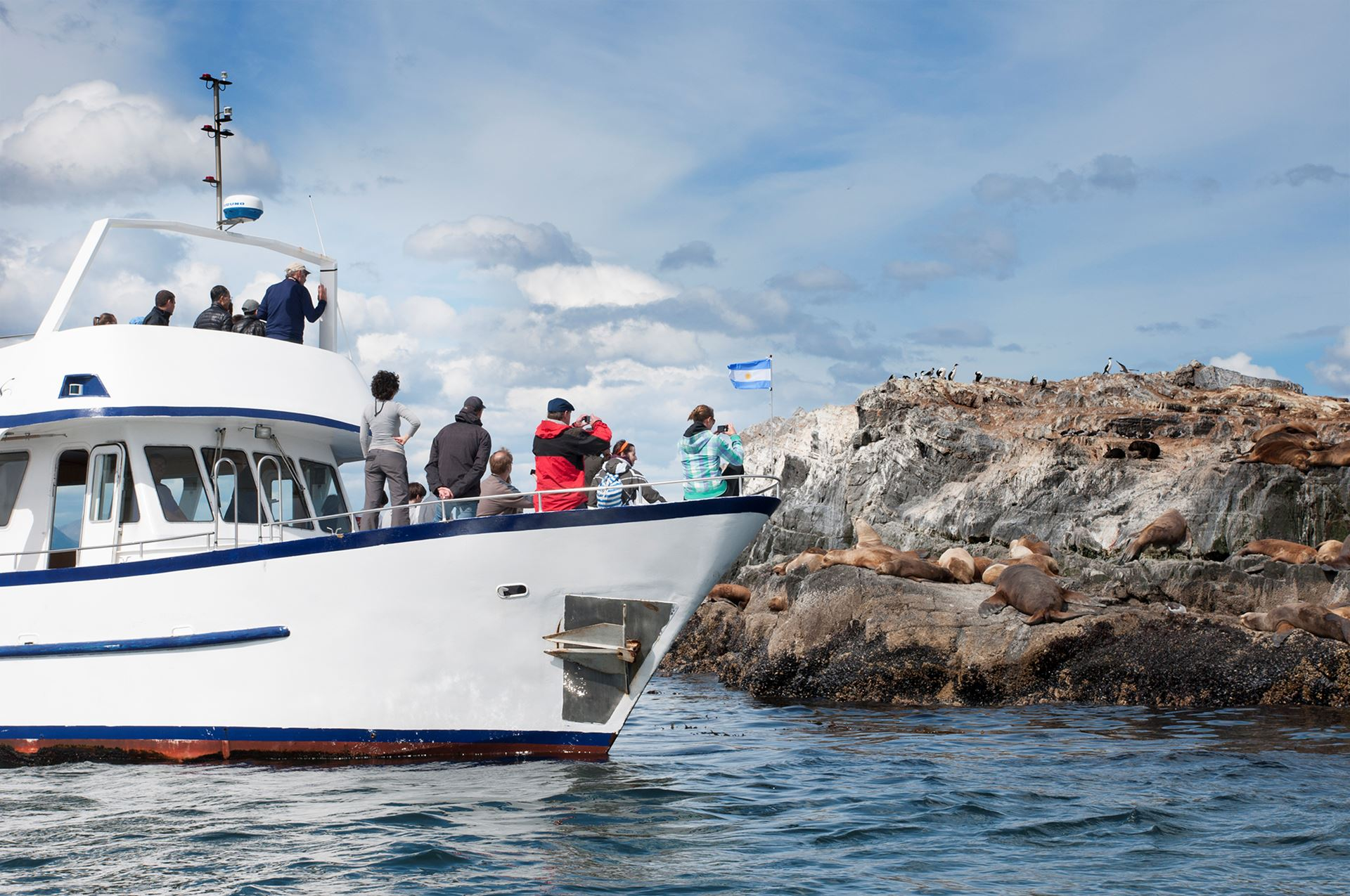 Que viagem de barco escolher no Canal de Beagle?